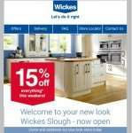 15% off everything instore Wickes Slough (minimum £5 spend)