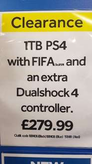 ps4 slim 1tb with fifa 17 and 2 contollers in currys  £279.99