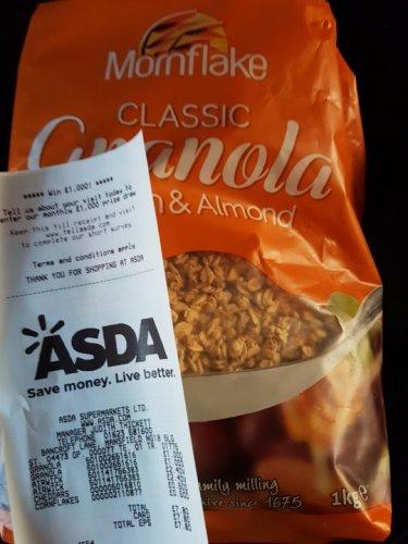 Mornflake Classic Granola 1kg £1 @ Asda