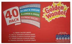 Golden Wonder Crisps box of 40 packs £4.00 in Asda