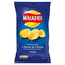 Walkers Crisps 6 Pack Cheese & Onion / Ready Salted. Half price, Now 50p instore Costcutter