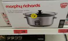 Morphy Richards 6.5l stainless steel slow cooker £20 instore @ Sainsbury's