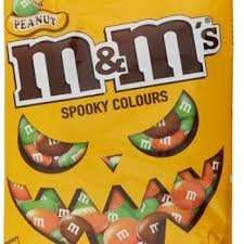 M&Ms Spooky Colours 165g bags 2 for £1 at Farmfoods