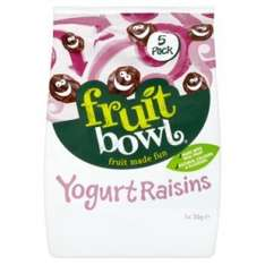 Fruit bowl yogurt raisins pack of 5 @ poundland - £1