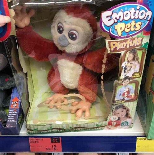 Emotions pet monkey 10p B&M