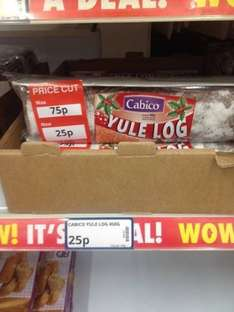 CAKE Cabico Yule Log JUST 0.25p 450grams Instore @ Poundstretcher