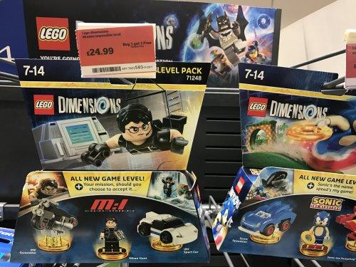 Lego Dimensions Packs BOGOF @ Sainsbury's
