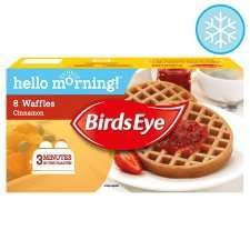 Birds Eye Cinnamon Waffles 240g reduced to 68p at tesco instore