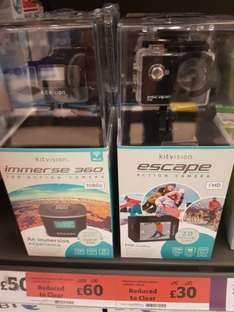 Kitvision action cameras - Immerse 360 and Escape FHD - £60 In-store Sainsburys