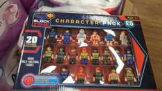 Block Zone (Lego type) 20 different figured £5 @ Poundland only