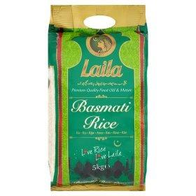 Laila Basmati Rice 90p/kg 5 kg bag £4.50 @ Asda