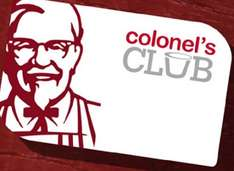 KFC Colonels Club offers (expiring 27/02/2017) including £3 of 10pc wicked variety bucket, free regular coffee, 99p kreamball and £1 off ricebox. Plus method to get FREE side everytime you walk into a KFC restaurant!