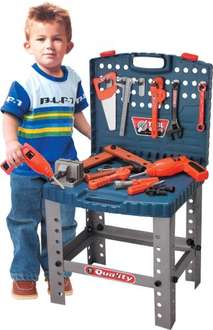 Kids toy workbench and tool set with spanners, drill, saw and calipers £9.99 delivered @ eBay sold by thinkprice