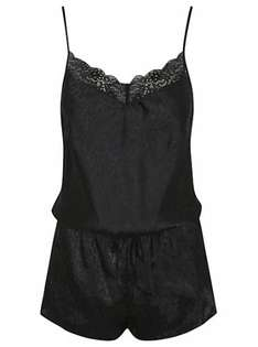 Sexy and comfortable black lace trim nightwear playsuit £8 free c&c @ asda