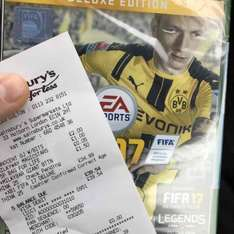 FIFA 17 deluxe edition £34.99 in Sainsbury's