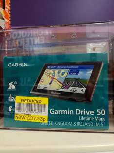 Garmin Drive 50 Satnav down from £75.05 to £37.53 Tesco Church Langley Harlow