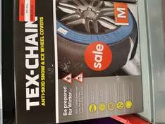 TEX-CHAIN ANTI-SKID SNOW AND ICE WHEEL COVERS. Reduced from £30 to £10 @ Asda - Aberdeen