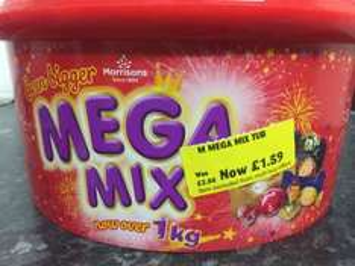 Morrisons mega mix chocolate 1kg £1.59 ! instore