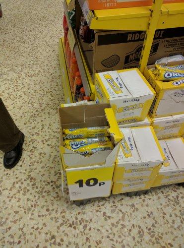 Golden Oreo 10p per pack Sunbury Tesco instore
