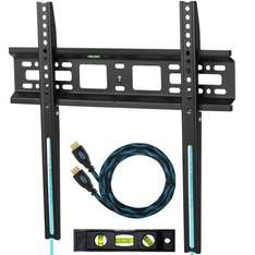 """Cheetah Mounts APFMSB TV Wall Bracket for 20""""-55"""" (Includes Braided HDMI Cable & Spirit Level) £8.69 (Prime) (£13.44 Non-Prime) Delivered & Sold by SPN Imports and Services LLC and Fulfilled by Amazon (Lifetime Guarantee)"""