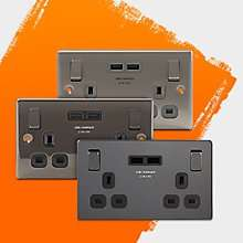 B&Q 2 for £25 on all £18 USB Sockets; Free C&C.