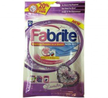 Fabrite 24 wash lavender laundry powder sheets £1 @ The Range