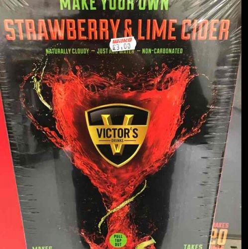 Wilko's strawberry & Lime cider kit also the Peach & Blood Orange kit £3 instore