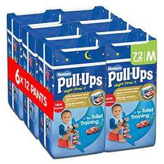 Huggies Pull Ups Night Time Potty Training Pants for Boys/Girls - 72 pack for only £12.00  (Prime) / £16.75 (non Prime)  includes Disney, various sizes @ Amazon