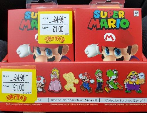 Super Mario Collectors Badges £1 instore @ Smyths