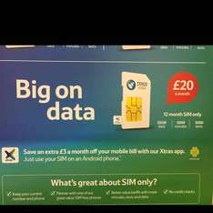Tesco Mobile 20GB for £20 is back! 5k mins, 5k texts! £20PM - £240