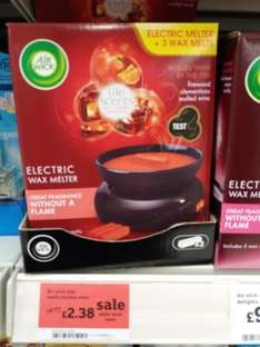 air wick wax melter and melts £2.38 Sainsburys instore.