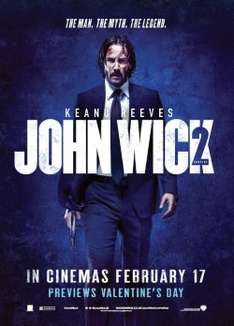 Free tickets for   screenings of John Wick Chapter 2  film Wednesday 15th February 2017