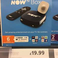 NOW TV with 6 MONTHS Entertainment Pass @ Tesco instore
