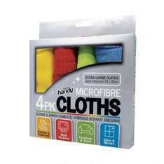 Microfibre Cloths (pack of 4) for £1 @ Staples