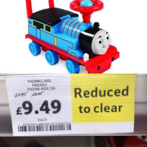 Thomas the tank engine walker and ride on reduced instore £9.49 @ Tesco - Sunbury