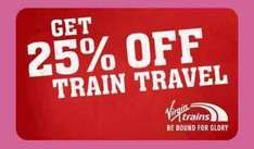 Virgin Trains 25% off Advanced Fares anywhere, any trip, until 01/04/17 WEST COAST MAINLINE