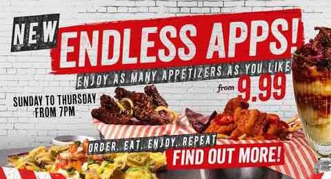 TGI Friday - Endless Apps £9.99