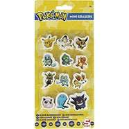 Pack of 12 Pokemon Mini Erasers 80p C+C with code or £1 Del with code @ The Works