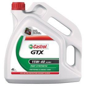 Castrol GTX 15W-40 A3/B4 4 Litre Car engine OIL £13 @ ASDA