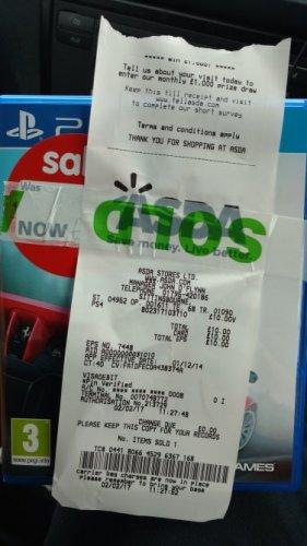 Assetto Corsa PS4 game £10 instore @ Asda in Sittingbourne
