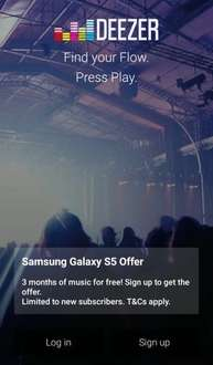 Deezer free on Samsung devices for 3 months