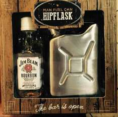 Jim Beam 5cl  & Fuel can Hip Flask Gift set. Was £12 with 70% off now £3.75 @ Debenhams  in store