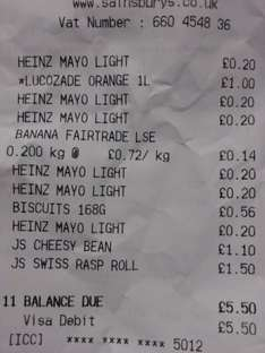 Heinz light mayonnaise 800ml 20p Sainsbury's instore - Braintree