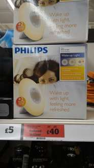 Phillips wake-up light alarm clock HF3505/01 with sunrise simulation £40 @ Sainsbury's - Crawley