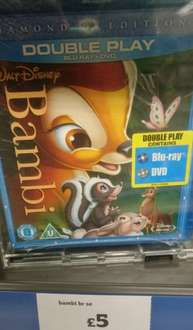 Bambi - disney diamond edition blu-ray + dvd £5.00 @ sainsbury's