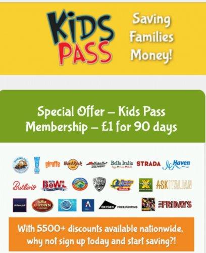 KidsPass - £1 for 90 days