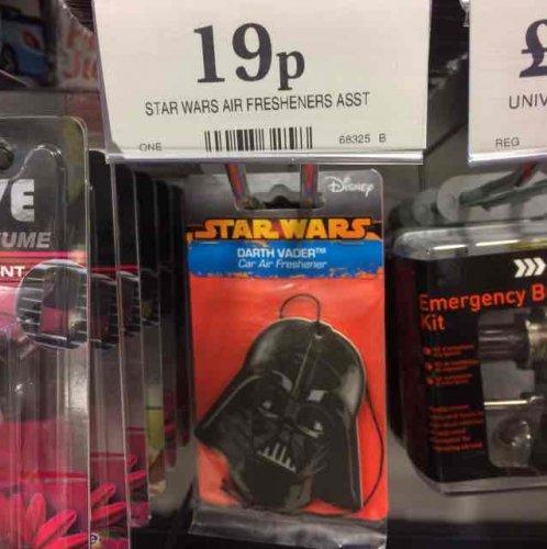 Star Wars car air freshener - 19p instore @ Home Bargains