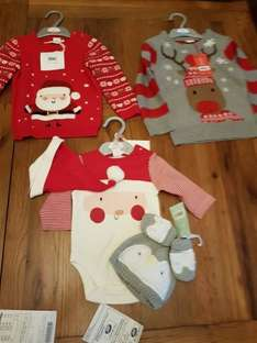 Boots Baby Xmas Clothes 70% off instore
