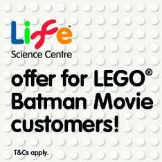 Free Child's Entry to Centre for Life with Lego Batman Empire Cinemas Ticket