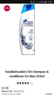Head and shoulders in boots on offer for £1.99